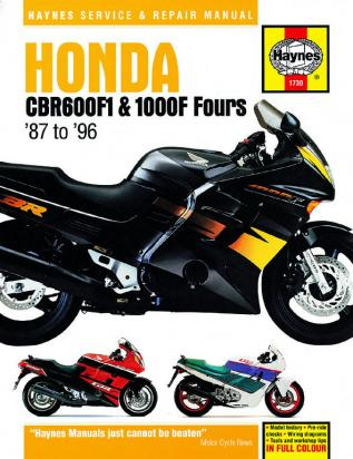 Picture of Haynes Manual - Honda CBR600 FH,FJ, 1000F Fours 87-1996