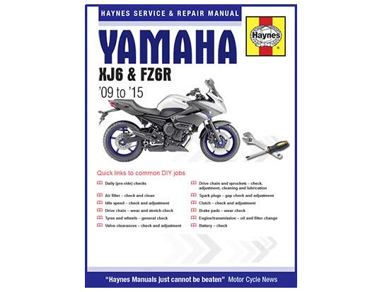 Picture of Haynes Manual - Yamaha XJ6-N,XJ6-S 09-15,XJ6-SP 13-15,XJ6-F 10-15