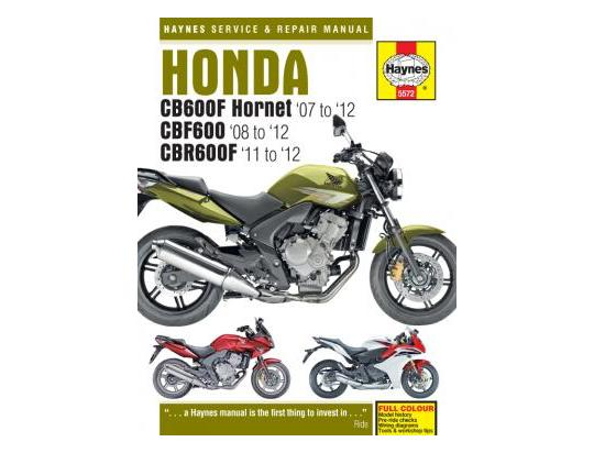 Picture of Honda CB 600 FA (ABS) Hornet 10 Manual Haynes