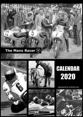 Picture of Classic TT Manx Racer A4 Calendar 2020 13 pages  - for MGPSC fund for injured riders