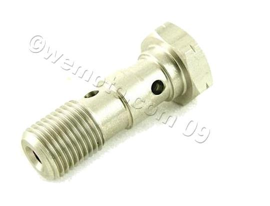 Banjo Bolt Double Stainless 1.25mm Thread (For 2 Lines)