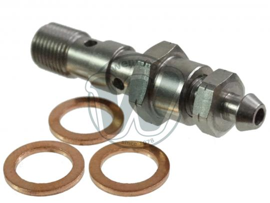 Picture of Double Bleed Banjo Bolt (For 2 Lines) Stainless M10 x 1.00mm Thread With 2 Washers