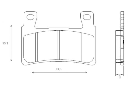 Picture of Pads Front Brenta Standard (GG Type)