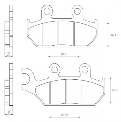 Picture of Brenta Brake Pads FT3148