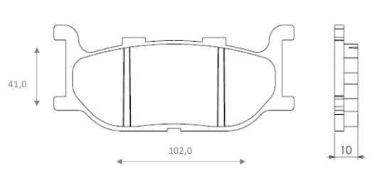 Picture of Yamaha SR 400 (BC-RH01J) (Japan) 78-84 Brake Pads Front Brenta Sintered (HH Type)
