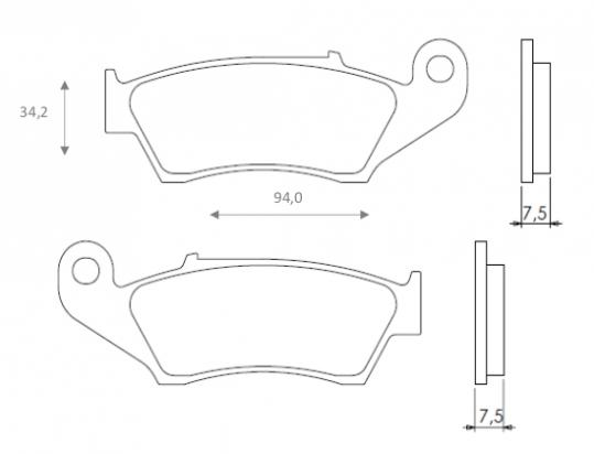 Picture of Kawasaki KX 250 K5 98 Brake Pads Front Brenta Off Road