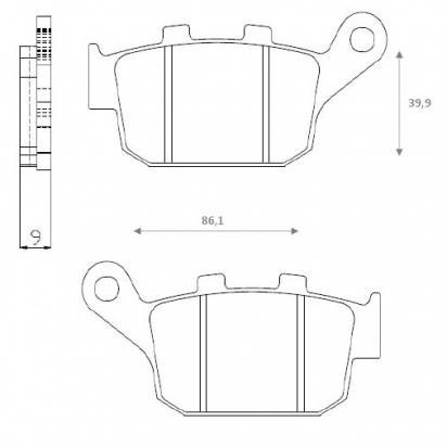 Picture of Brake Pads Rear Brenta Standard (GG Type)