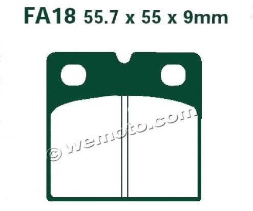 Picture of EBC Brake Pads FA18