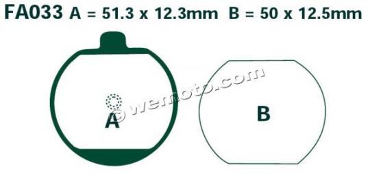 Picture of EBC Brake Pads FA033
