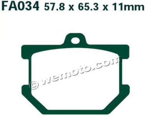 Picture of Yamaha SR 500 92-96 Brake Pads Front EBC Standard (GG Type)
