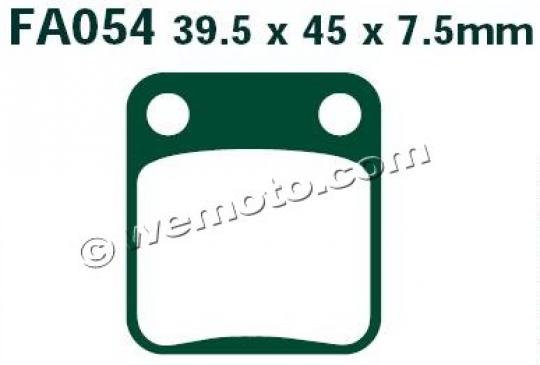 Picture of Kreidler Enduro 125 15 Brake Pads Rear EBC Sintered (HH Type)