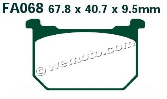 Picture of Brake Pads Front EBC Standard (GG Type)