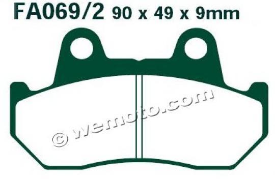 Picture of Honda NS 250 FE (MC11) (Japanese Market) 84 Brake Pads Front EBC Standard (GG Type)