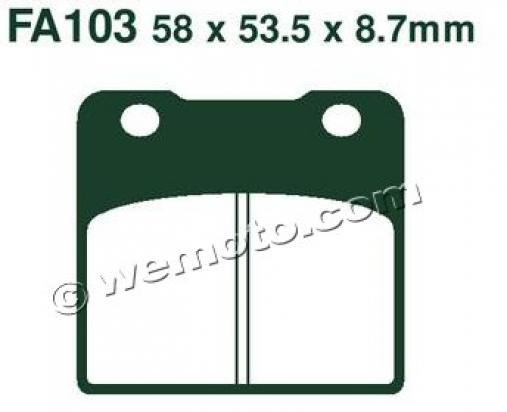 Picture of EBC Brake Pads FA103HH Sintered