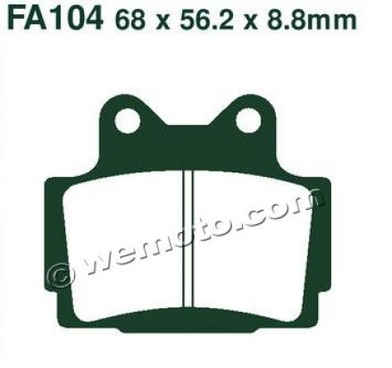 Picture of Yamaha SRX 600 2NX/3GV Single Disk (1JK) (Japan) 85-86 Brake Pads Rear EBC Sintered (HH Type)