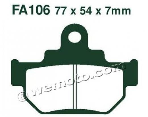 Picture of EBC Brake Pads FA106R Sintered