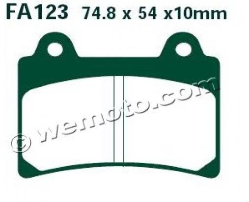 Picture of EBC Brake Pads FA123HH Sintered