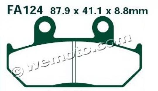 Picture of EBC Brake Pads FA124HH Sintered