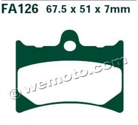Picture of EBC Brake Pads FA126HH Sintered