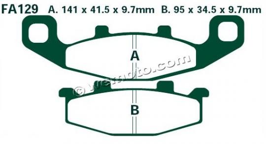 Picture of Kawasaki ZZR 250 (EX 250 H10) 99 Brake Pads Front EBC Sintered (GG Type)
