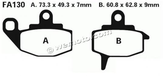 Picture of Brake Pads Front EBC Sintered (GG Type)