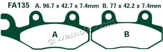Picture of Brake Pads Front Right EBC Standard (GG Type)