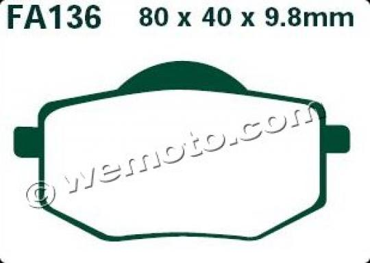 Picture of EBC Brake Pads FA136