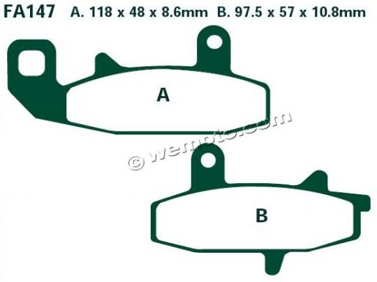 Picture of EBC Brake Pads FA147R Sintered