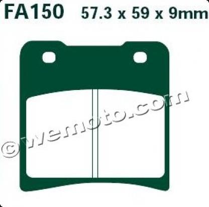 Picture of EBC Brake Pads FA150HH Sintered