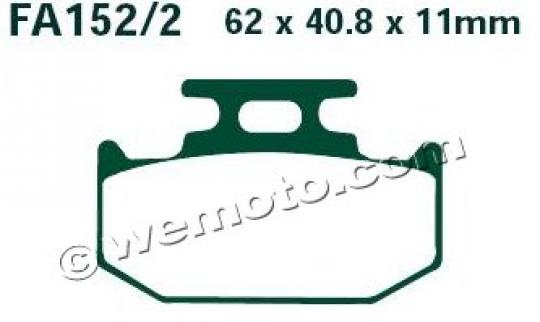 Brake Pads Rear EBC Sintered (GG Type)