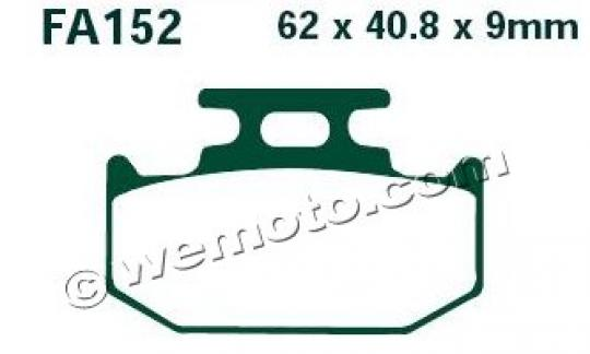 Picture of Kawasaki KLX 250 F2 (KLX 250 ES) (Japanese Market) 95 Brake Pads Rear EBC Sintered (GG Type)