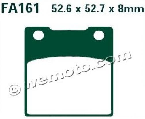 Picture of Kawasaki ZXR 400 R (ZX 400 J2) 90 Brake Pads Rear EBC Standard (GG Type)