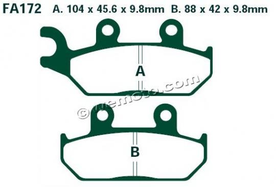 Picture of EBC Brake Pads FA172R Sintered
