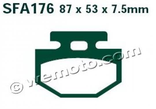Picture of EBC Brake Pads SFA176