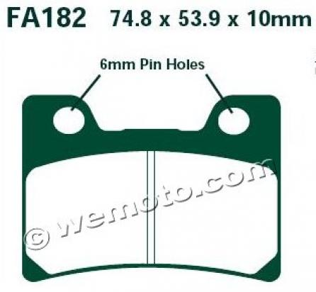 Picture of EBC Brake Pads FA182HH Sintered