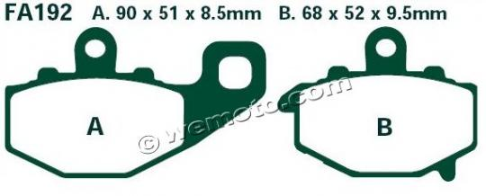 Picture of Kawasaki ER-6 N CBF 11 Brake Pads Rear EBC Sintered (HH Type)