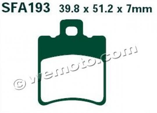 Picture of EBC Brake Pads SFA193HH Sintered