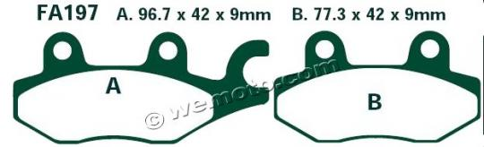 Picture of Kawasaki BN 125 A3-A8 Eliminator 00-05 Brake Pads Front EBC Standard (GG Type)