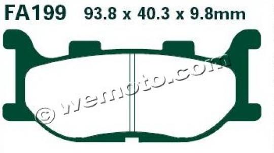 Picture of Italjet Jupiter 125 03 Brake Pads Front EBC Sintered (HH Type)