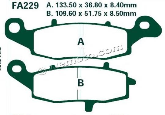 Picture of Kawasaki ER-6 F EEF 14 Brake Pads Front Left EBC Sintered (HH Type)