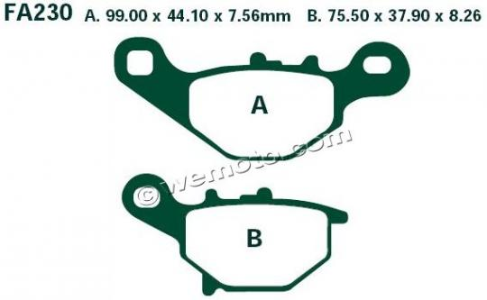 Picture of Suzuki DR-Z 125 LL7 17 Brake Pads Front EBC Sintered (GG Type)