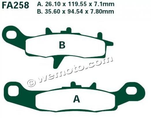 Picture of Suzuki RM 85 LK6 Big Wheel 06 Brake Pads Front EBC Sintered (GG Type)