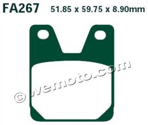 Picture of Brake Pads Rear EBC Standard (GG Type)
