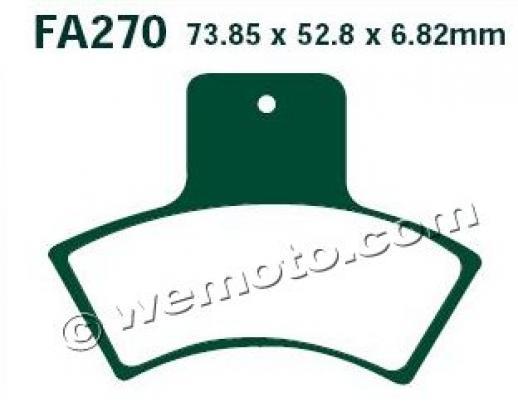 Picture of Polaris Scrambler 400  2x4 02 Brake Pads Rear EBC Standard (GG Type)