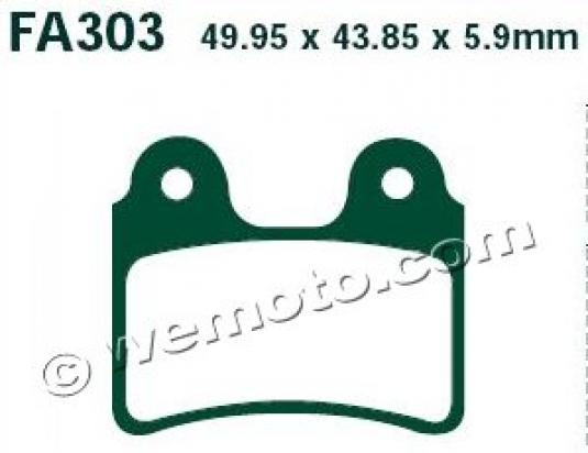 Picture of OSSA Explorer 280i 15 Brake Pads Rear EBC Standard (GG Type)