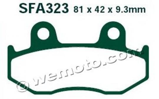 Picture of Honda SH 125 2 02 Brake Pads Front EBC Standard (GG Type)