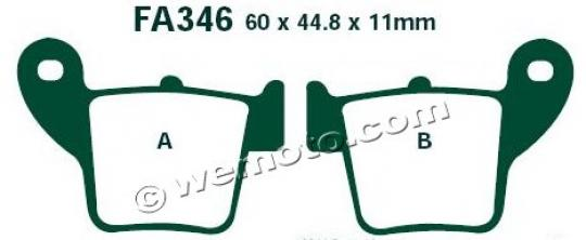 Picture of Honda CRF 450 R7 07 Brake Pads Rear EBC Sintered (GG Type)