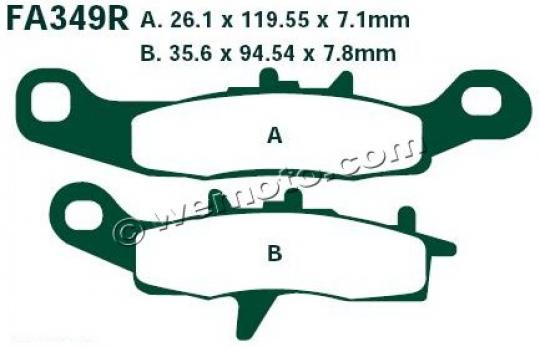 Picture of Brake Pads Front Right EBC Sintered (GG Type)