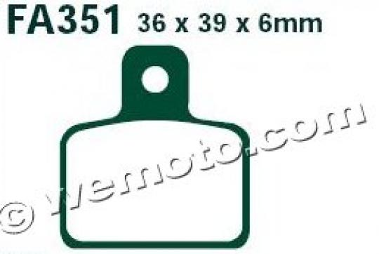 Picture of OSSA Explorer 250i 15 Brake Pads Rear EBC Standard (GG Type)