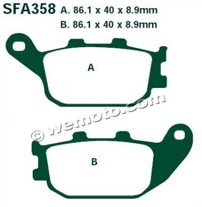 Picture of EBC Brake Pads SFA358